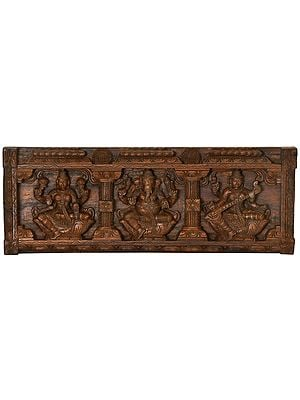 Lakshmi, Ganesha and Saraswati Panel