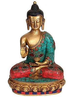 Preaching Buddha with Pindapatra