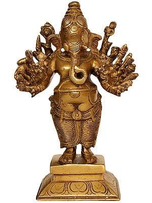 Sixteen-Armed Standing Ganesha