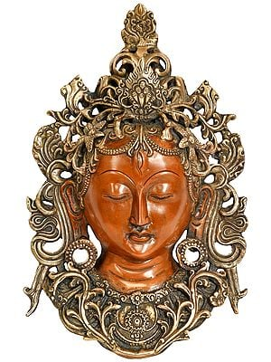 Goddess Tara Wall Hanging Mask (Tibetan Buddhist)