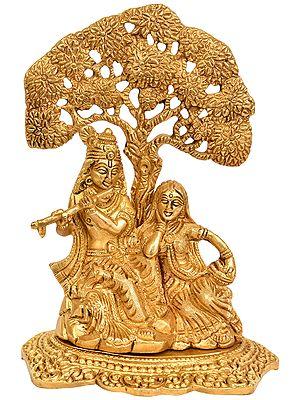 Radha Krishna Under the Tree (Flat Statue)