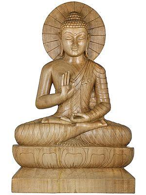 Tibetan Buddhist Lord Gautama Buddha Preaching His Dharma - Large Size