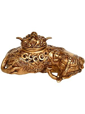 Tibetan Buddhist Elephant Incense Burner