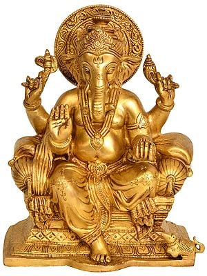 Lord Ganesha Seated on Throne