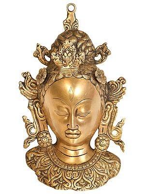 Tibetan Buddhist Deity Tara Wall Hanging Mask
