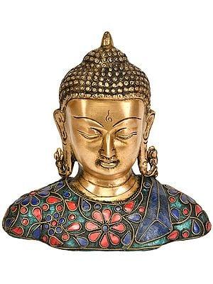Tibetan Buddhist Deity Lord Buddha Bust