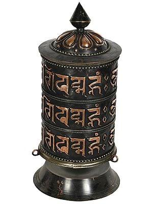 Tibetan Buddhist Monastery Prayer Wheel From Nepal