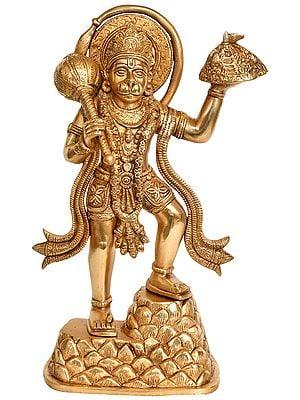 Lord Hanuman Carrying Mountain of Sanjeevani Herbs