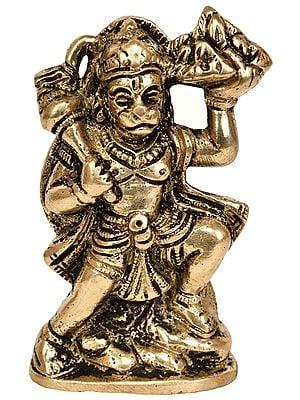 Lord Hanuman Holding Mount of Sanjeevani Herbs