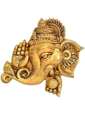 Lord Ganesha Blessing Wall Hanging Mask