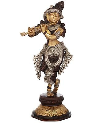 """9"""" Lord Krishna Playing on Flute 