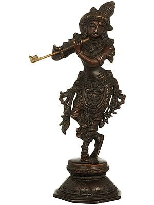 Lord Krishna Playing on Flute