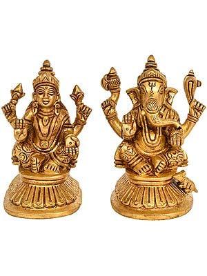 Goddess Lakshmi and Lord Ganesha