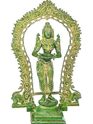 Deepalakshmi with Decorated Prabhawali