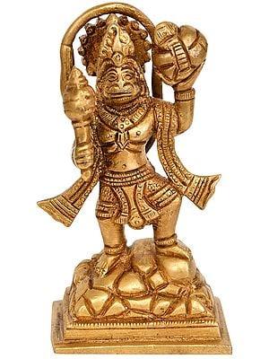 Lord Hanuman Holding Mount Dron of Sanjeevani Herbs