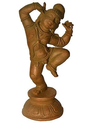 Dancing Baby Krishna with One Finger in His Ear