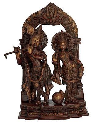 Radha Krishna with Milk Pot