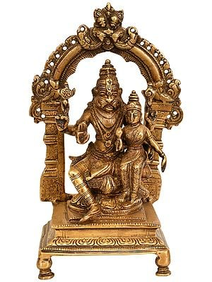 Lord Narasimha with Goddess Lakshmi