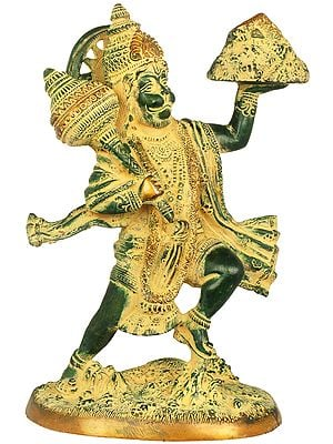 Mighty Hanuman Holding The Sanjeevani Mountain