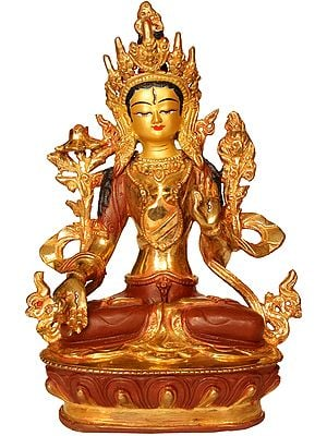 (Tibetan Buddhist Deity) Seven-Eyed  Goddess White Tara Blessing Long Life to Her Devotees