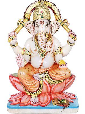 Kamalasana Lambodara Ganesha