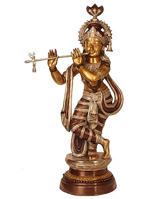 Large Size Krishna Playing on Flute