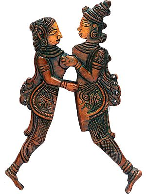 Amorous Couple Nutcracker