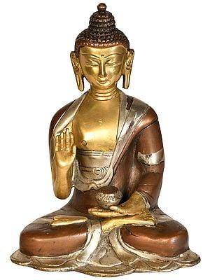 Blessing Buddha with Begging Bowl (Tibetan Buddhist Deity)