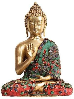 Lord Buddha in Abhaya Mudra (Tibetan Buddhist Deity)