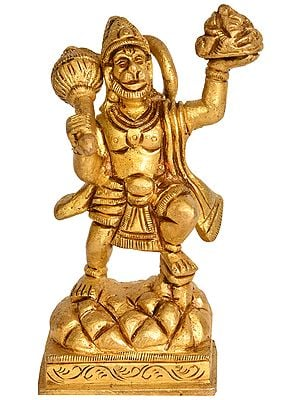 Lord Hanuman Holding the Mountain of Herbs