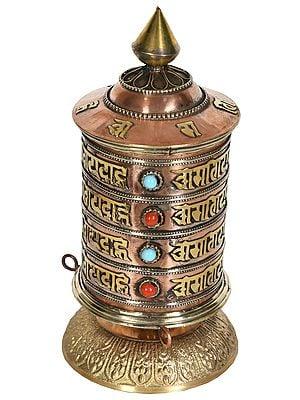 Tibetan Buddhist Nepalese Prayer Wheel