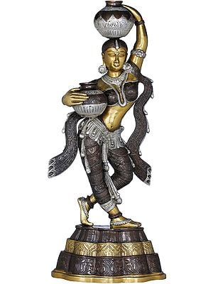 Krishna's Gopi (Finely Crafted Statue)