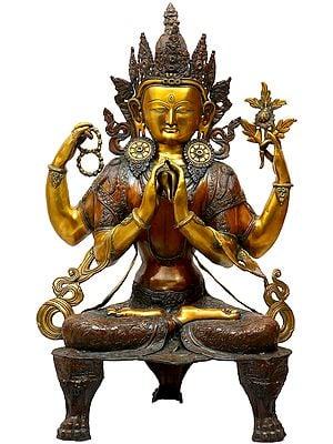 Large Size Chenrezig (Shadakshari Lokeshvara Tibetan Buddhist Deity)