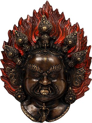 Mahakala Wall Hanging Mask - Made in Nepal