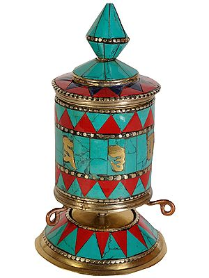 Tibetan Buddhist Prayer Wheel (cho-kor or khorten)