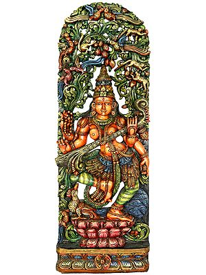 Dancing Devi Sarasvati, Under A Canopy Teeming With Life