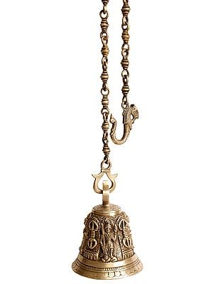 Buddhist Wrathful Guardian Ceiling Bell with Dorje