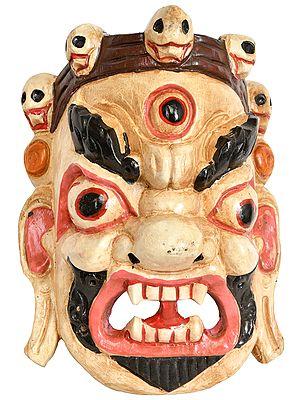 Tibetan Buddhist Deity Mahakala Wall Hanging Mask