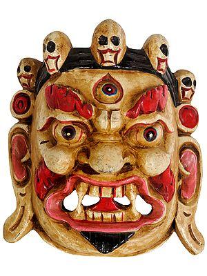 Mahakala Wall Hanging Mask (Tibetan Buddhist Deity)