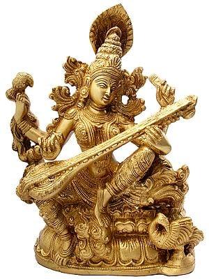 Vina-Vadini Kamalasana Saraswati