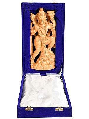 The Fair Lord Hanuman On The Mount Of Sanjeevani