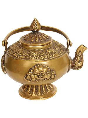 Monastery Kettle with Eight Auspicious Symbols and Garuda Faces
