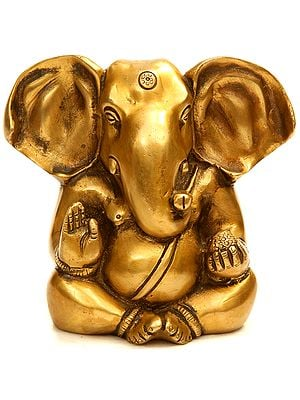 Lord Ganesha with Modak and Large Ears