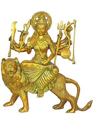 Mother Goddess Durga Seated on Her Lion