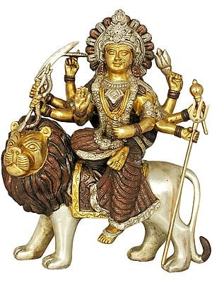 Mother Goddess Durga Seated on Lion