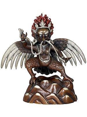 Tibetan Buddhist Naga-Bhishana Garuda - Made in Nepal