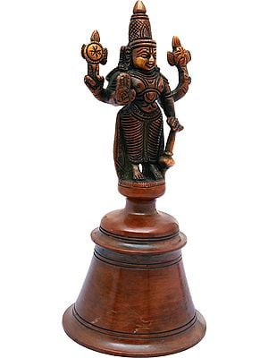 Lord Vishnu Handheld Bell