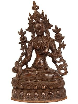 Tibetan Buddhist Goddess White Tara Who Blesses Long Life to Her Devotees