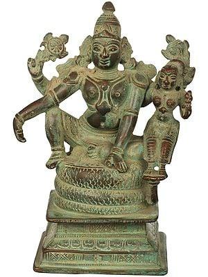 Lord Vishnu Seated with Lakshmi