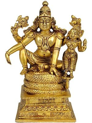 Lord Vishnu Seated with Lakshmi